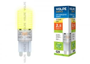 Volpe LED-JCD-2,5W/WW/G9/CL/S картон