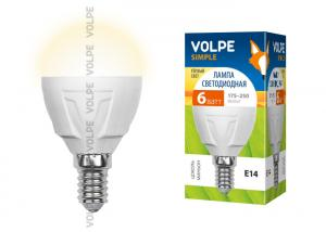 Volpe LED-G45-6W/WW/E14/FR/S картон