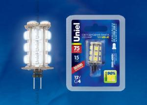 Uniel LED-JC-12/0,9W/DW/G4 75lm Corn блистер