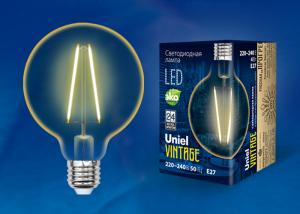 Uniel LED-G80-4W/GOLDEN/E27 GLV21GO
