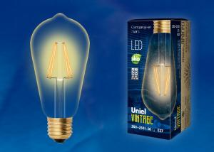 Uniel LED-ST64-5W/GOLDEN/E27 GLV22GO